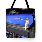 Battle Beyond The Atmosphere  Tote Bag