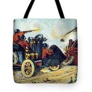 Battle Cars, 1900s French Postcard Tote Bag