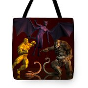 Battle Of Good Vs Evil Tote Bag