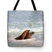 Battle For The Beach Tote Bag
