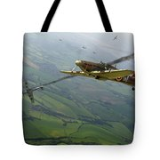 Battle Of Britain Dogfight Tote Bag
