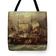 Battle Of Cape St Vincent Tote Bag