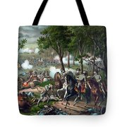 Battle Of Chancellorsville - Death Of Stonewall Tote Bag