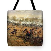 Battle Of Gettysburg Tote Bag by Thure de Thulstrup