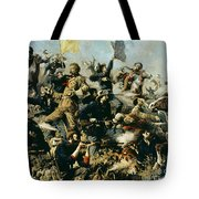 Battle Of Little Bighorn Tote Bag