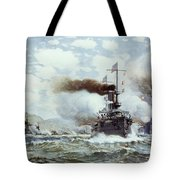 Battle Of Manila Bay 1898 Tote Bag