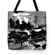 Battle Of Stalingrad Nazi Plane Crossing Volga River 1942 Tote Bag