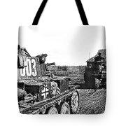 Battle Of Stalingrad Nazi Tanks Tote Bag