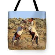 Battle Of The Paints Tote Bag