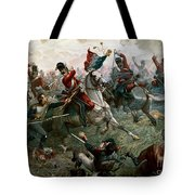 Battle Of Waterloo Tote Bag by William Holmes Sullivan