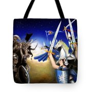 Battle Under The Stars Tote Bag
