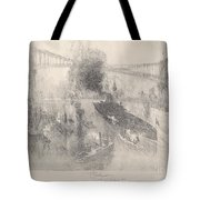 Battleship Coming Home Tote Bag