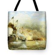 Battleships At War Tote Bag