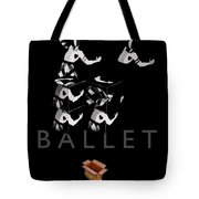 Bauhaus Ballet Black Tote Bag by Charles Stuart