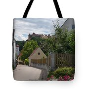 Bavarian Village With Castle  View Tote Bag