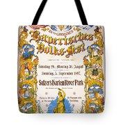 Bavarian Volksfest New York Vintage Poster 1897 Tote Bag