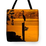 Bay At Sunrise - Heron Tote Bag