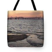 Bay At Sunset Tote Bag