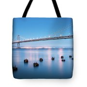 Bay Bridge Blues, San Francisco Tote Bag