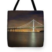 Bay Bridge's Eastern Span Replacement At Night Tote Bag