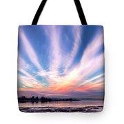 Bay Farm Island Sunrise Tote Bag