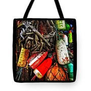 Bay Front Buoys Tote Bag