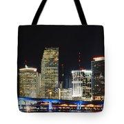 Bay Front Miami Skyline Tote Bag
