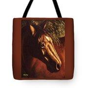 Bay Horse Art Horse Portrait Circe At Sunset Tote Bag
