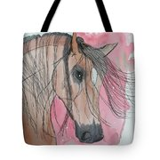 Bay Horse Watercolor Tote Bag