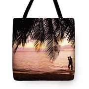 Bay Islands At Sunset Tote Bag