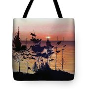 Bay Of Fundy Sunset Tote Bag