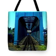 Bay Of Fundy Train Trestle Tote Bag