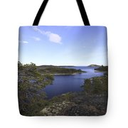 Bay Of The Baltic Sea And Pine Trees Tote Bag