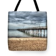 Bay Side Lynnhaven Fishing Pier Tote Bag