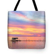 Bay Sunset Tote Bag