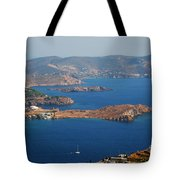Bay View On Patmos Island Greece Tote Bag