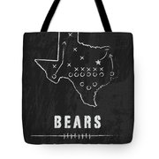 Baylor Bears / Ncaa College Football Art / Waco Texas Tote Bag by Damon Gray