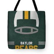Baylor Bears Vintage Football Art Tote Bag