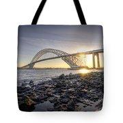 Bayonne Bridge Sunset Tote Bag