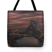 Bayou Barn  Tote Bag by Cynthia Adams