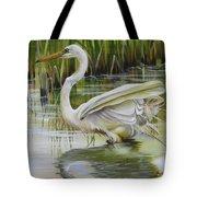 Bayou Caddy Great Egret Tote Bag