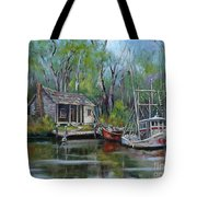Bayou Shrimper Tote Bag