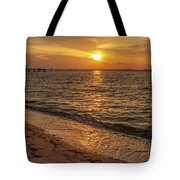 Bayside Sunset Tote Bag by Keith Smith