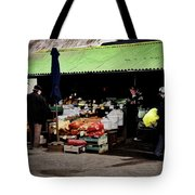 Bazaar On The Outskirts Of A Small Town Tote Bag