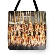 Bbq Asian Grilled Squid In Kep Market Cambodia Tote Bag