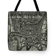 Be Aware Quote Tote Bag