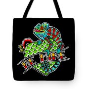 Be Mine Panther Chameleon Tote Bag