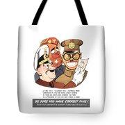 Be Sure You Have Correct Time Propaganda Tote Bag