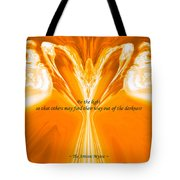 Be The Light - Josea Golden Tote Bag