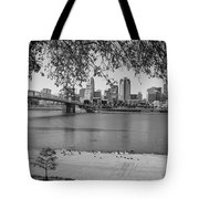 Beach An Cincinnati Skyline  Tote Bag